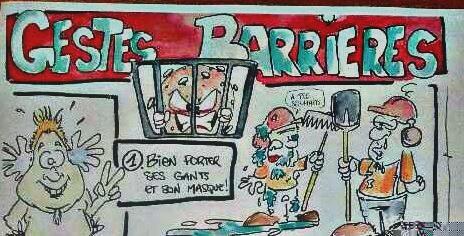 dessin humoristique gestes barrières
